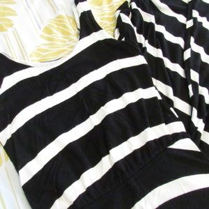 Striped Scoop Neck Maxi Dress